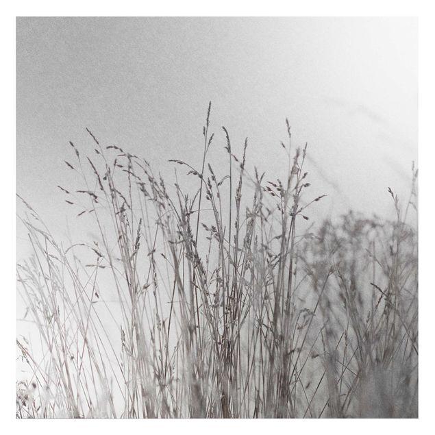 Metallic Tapete - Winterliche Gräser