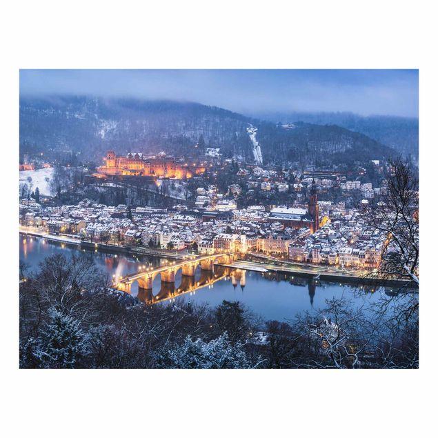 Spritzschutz Glas - Winterliches Heidelberg - Querformat 4:3