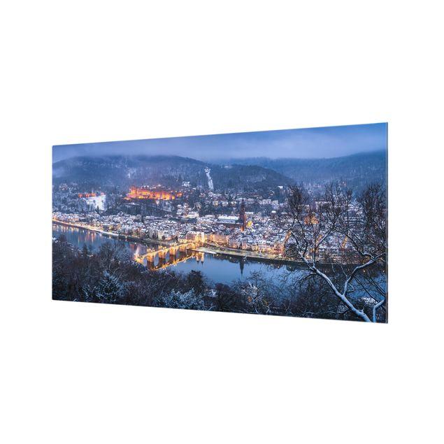Spritzschutz Glas - Winterliches Heidelberg - Querformat 2:1