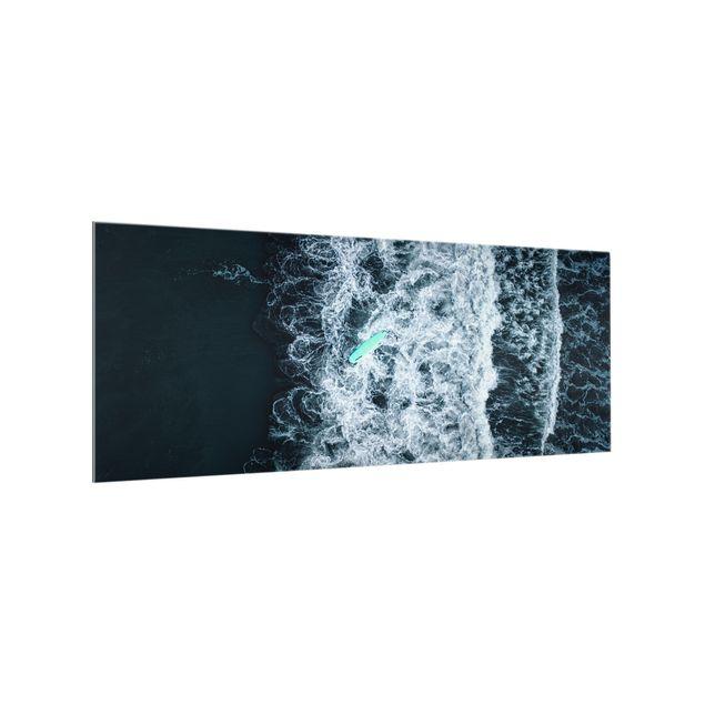Spritzschutz Glas - Wipe Out auf stürmischer See - Panorama 5:2