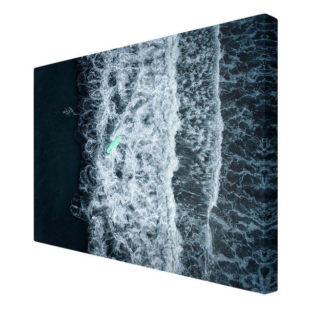 Leinwandbild - Wipe Out auf stürmischer See - Querformat 3:2