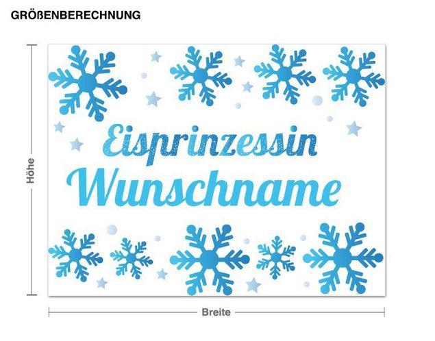 Wunschtext-Wandsticker Eisprinzessin