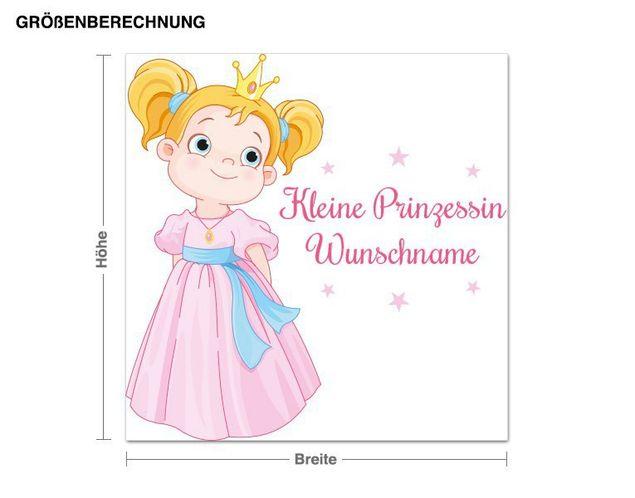 Wunschtext-Wandsticker Kleine Prinzessin