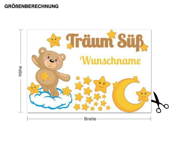 Wunschtext-Wandsticker Träum Süß