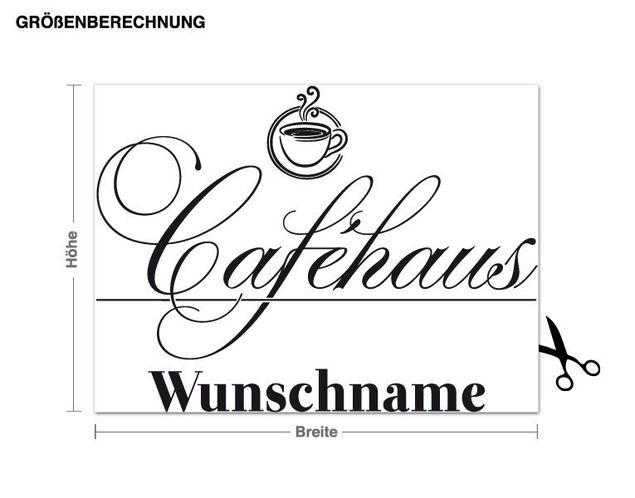 Wunschtext-Wandtattoo Caféhaus