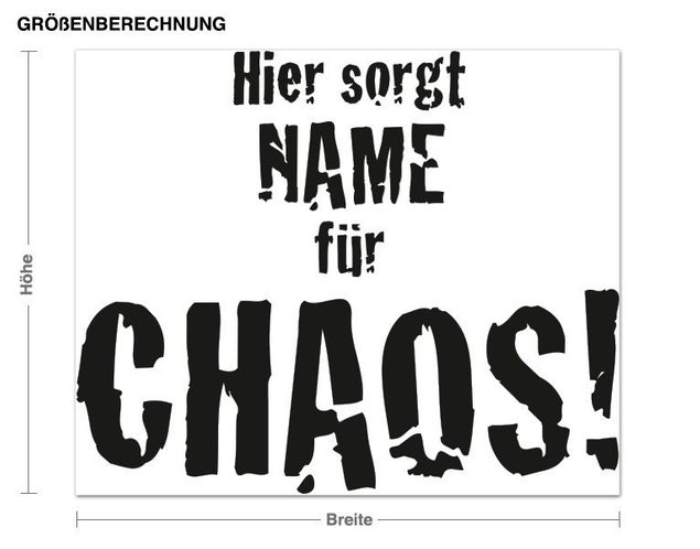 Wunschtext-Wandtattoo Chaos