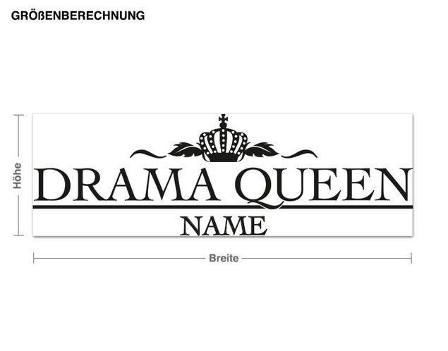 Wunschtext-Wandtattoo Drama Queen