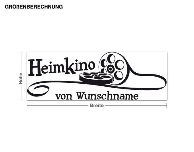 Wunschtext-Wandtattoo Heimkino