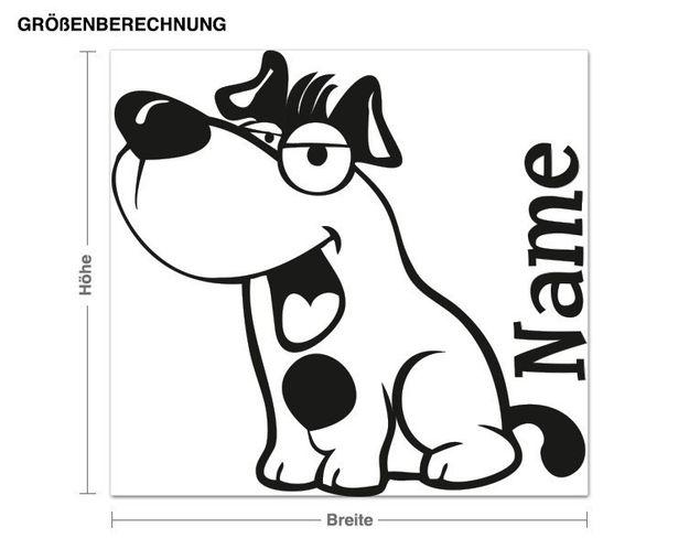 Wunschtext-Wandtattoo Hundefreund