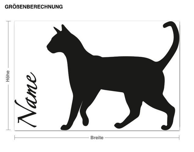 Wunschtext-Wandtattoo Katzenfreund