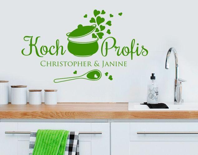 Wunschtext-Wandtattoo Kochprofis
