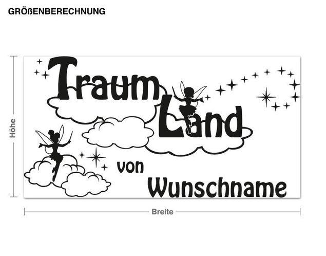 Wunschtext-Wandtattoo Traumland