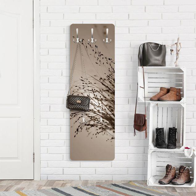 Garderobe - Zarte Gräser im Morgennebel