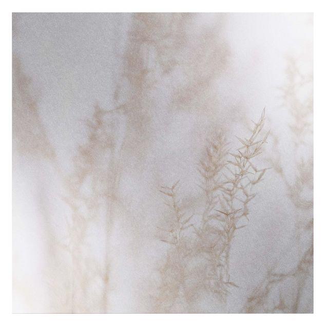 Metallic Tapete - Zartes Wiesengras Close Up
