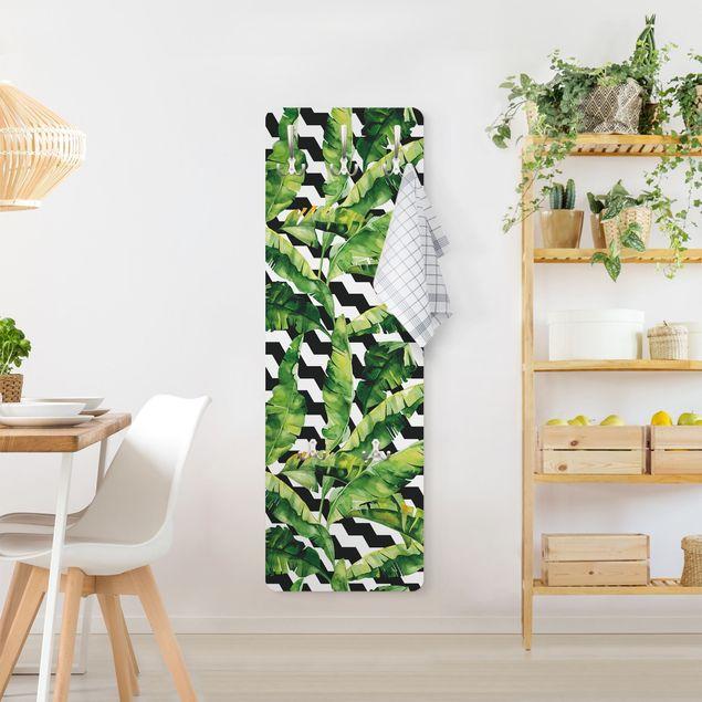 Garderobe - Zick Zack Geometrie Dschungel Muster