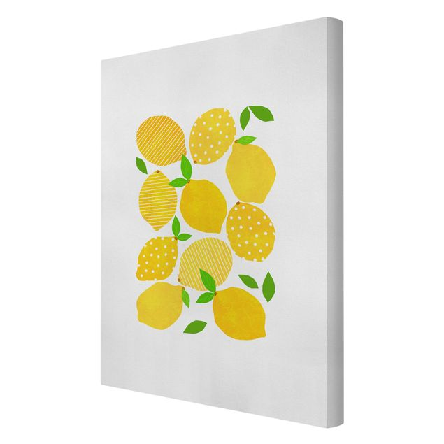 Leinwandbild - Zitronen mit Punkten - Hochformat 2:3